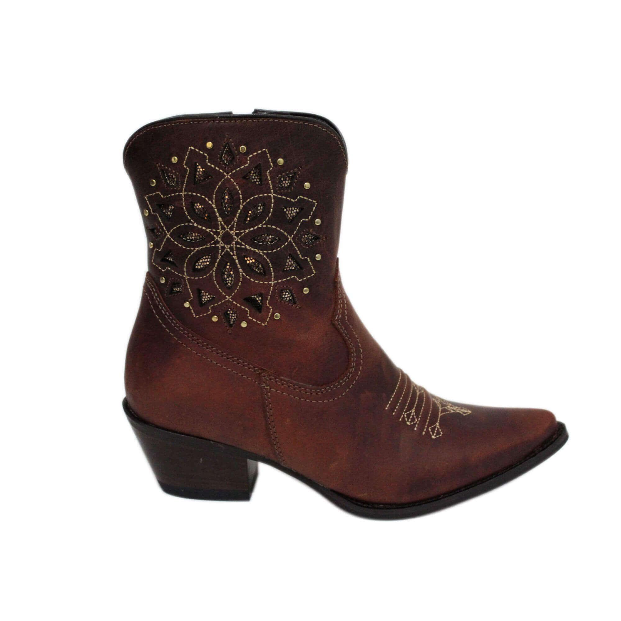 Bota Vimar Boots Feminina Couro Havana