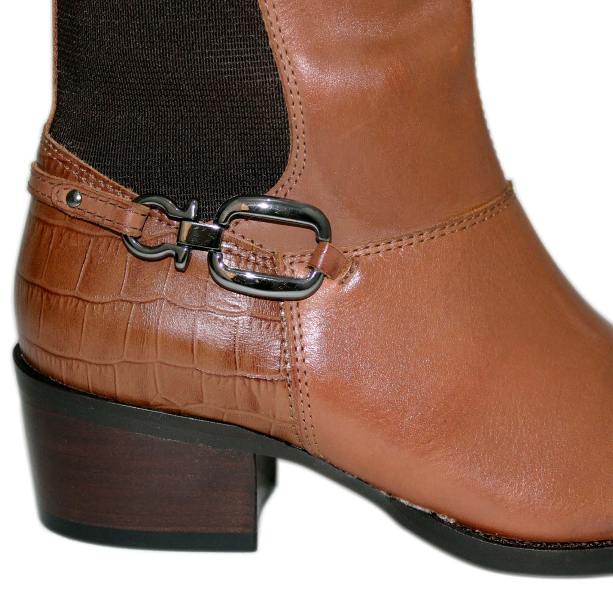 Bota Vimar Boots Feminina Montaria Couro Pinhão
