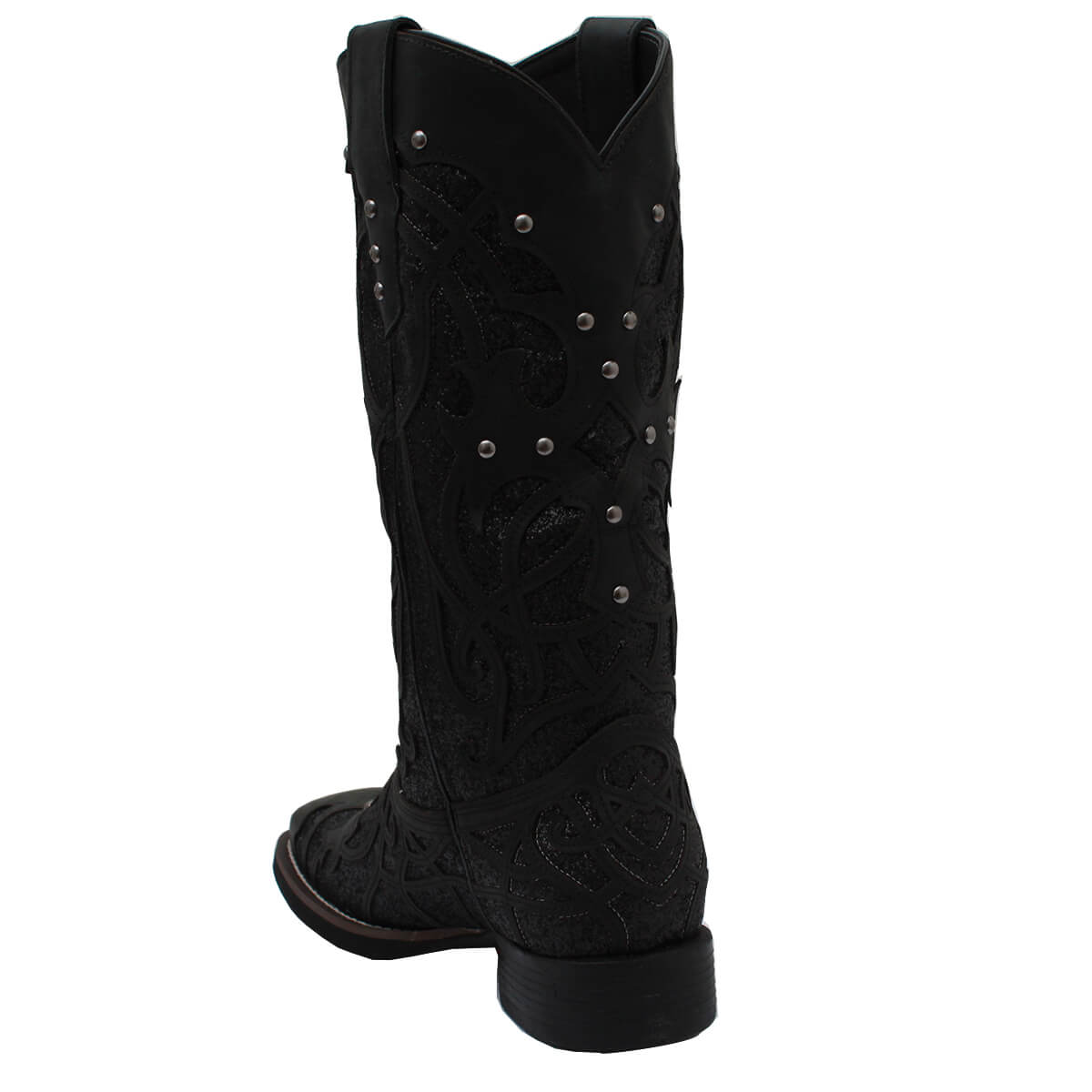 Bota Vimar Boots Feminina Fossil Preta Brilho