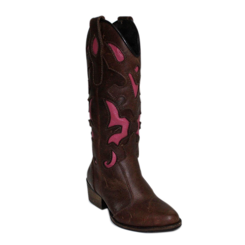 Bota Infantil Fóssil Castanho Pink Bull Leather