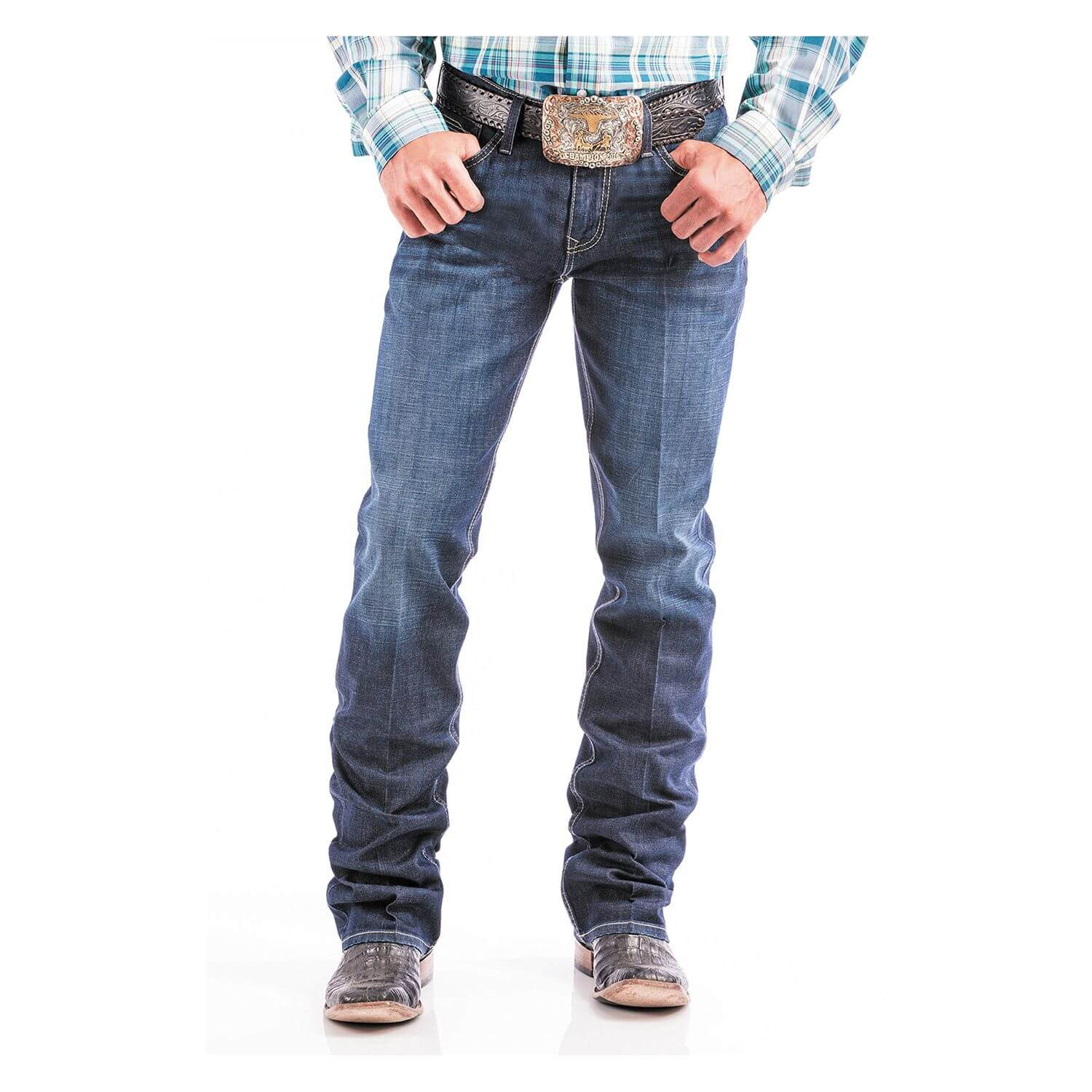 Calça Cinch Masculina Ian Dark Stone Wash - Arena Country Echaporã a1525177788