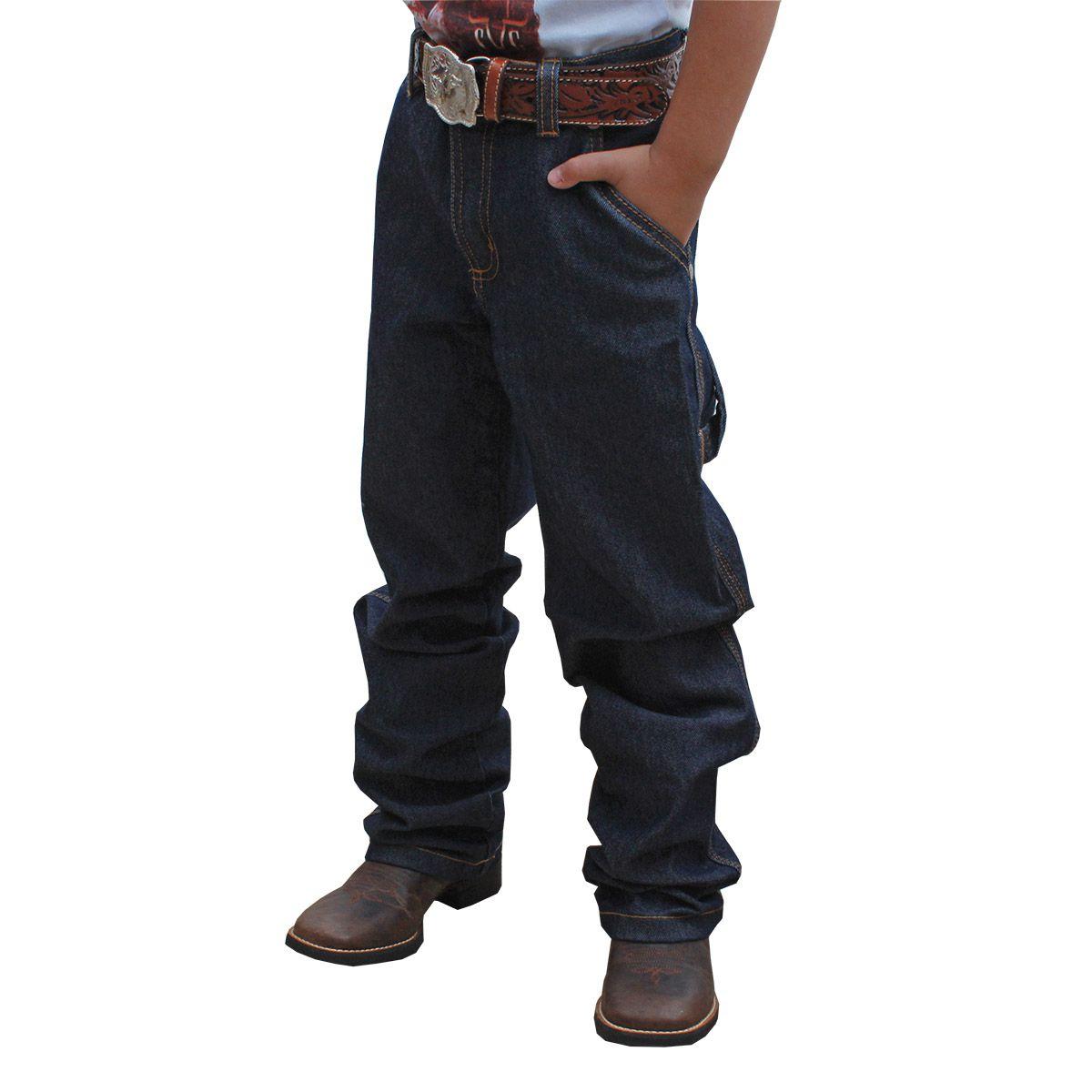 Calça Infantil Os Vaqueiros Carpinteira Amaciada