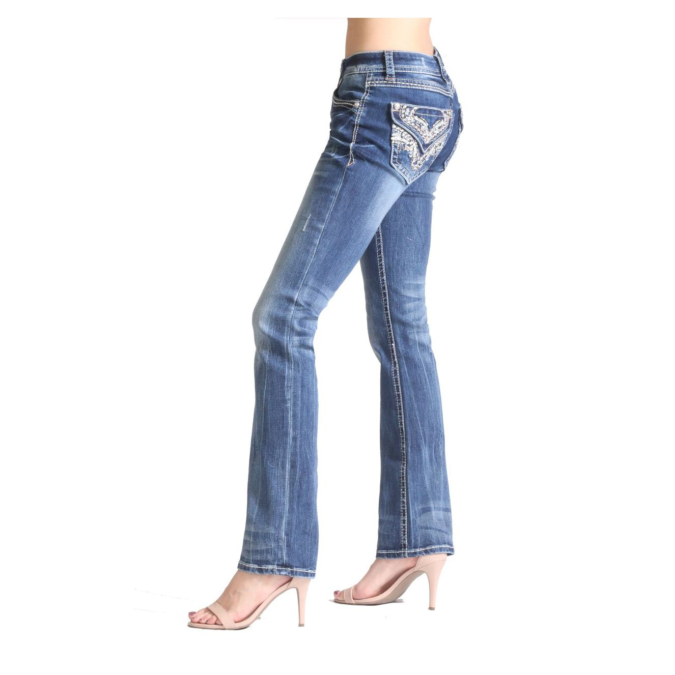 Calça Jeans Feminina Marie Bootcut Grace