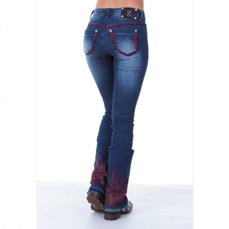 Calça Jeans Feminina On Fire Zenz Western - Arena Country Echaporã d8a5f91c448