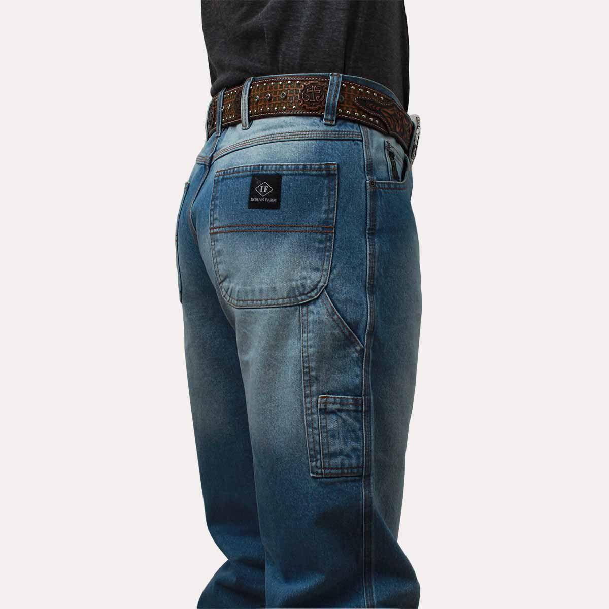65b0278d45a8b Calça Jeans Indian Farm Masculina Black Ice - Arena Country Echaporã