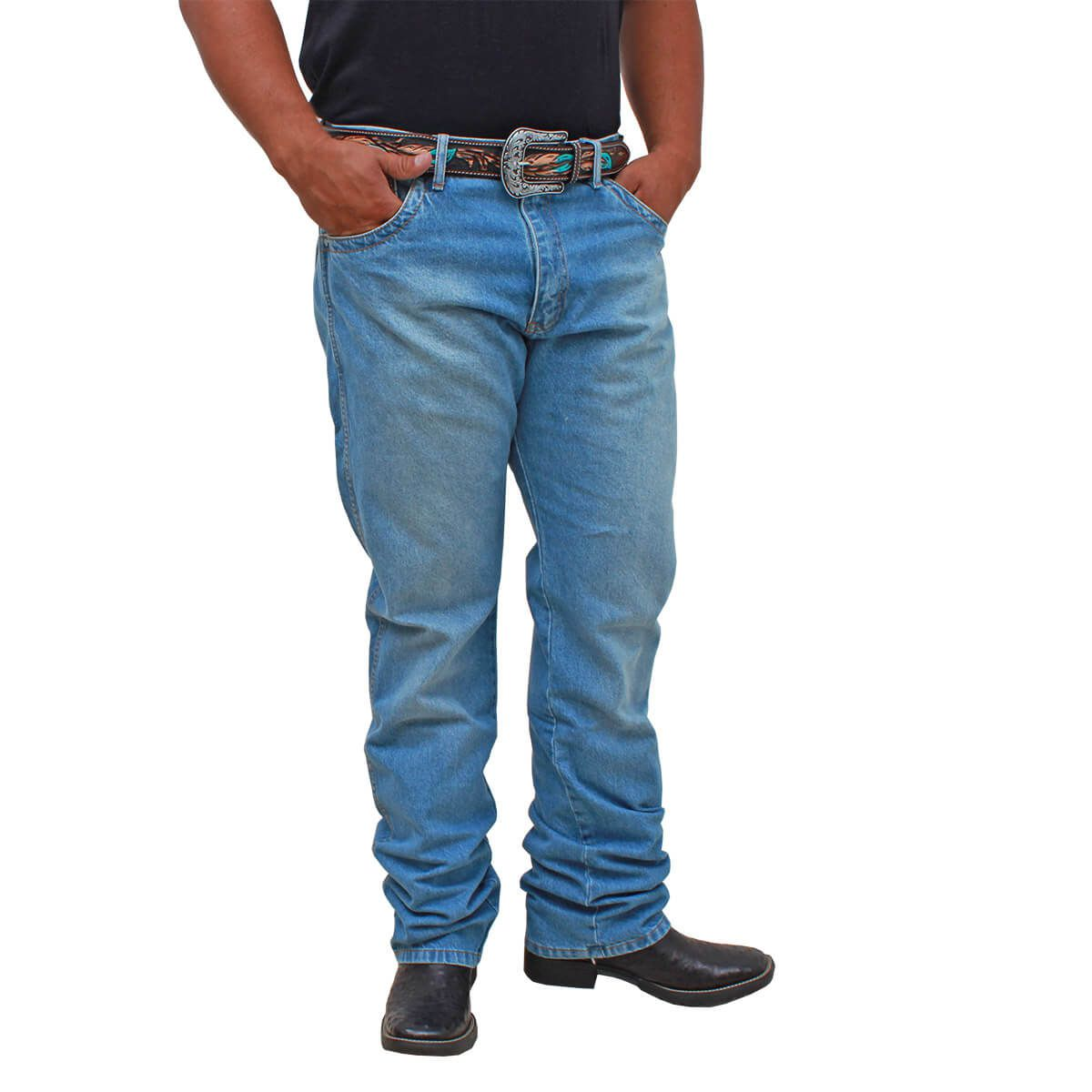Calça Wrangler 20X Nacional Delave Elaxed Fashion
