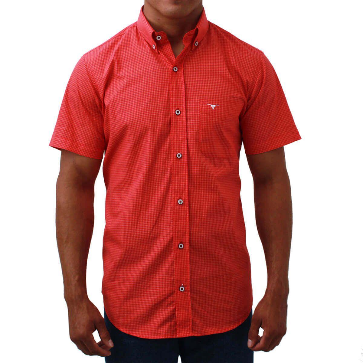 Camisa All Hunter Manga Curta Xadrez Vermelho - Arena Country Echaporã 4ef60787adf
