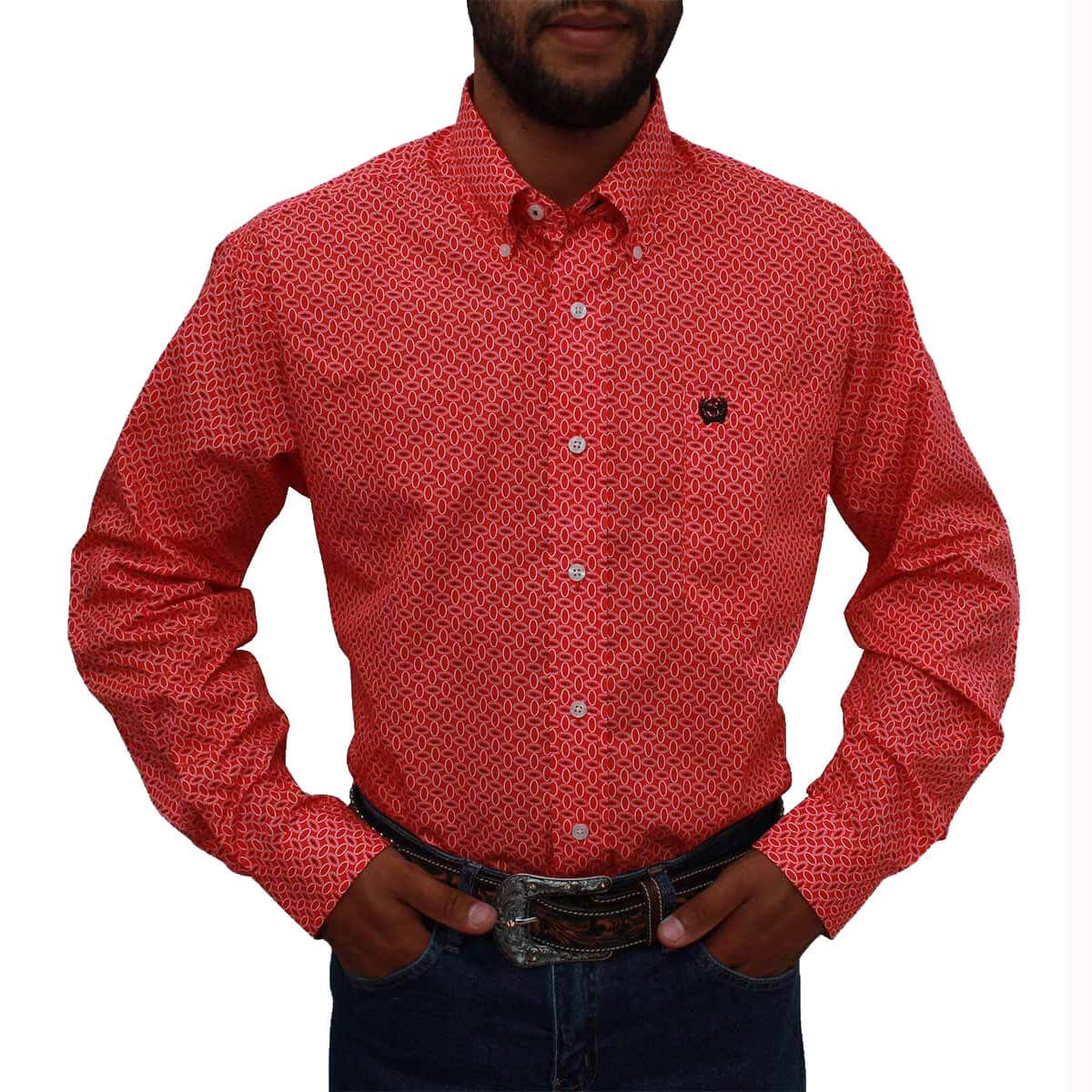 Camisa Cinch Masculina Importada Salmão