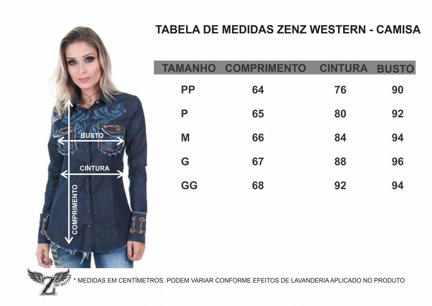 Camisa Feminina Happyness Zenz Western