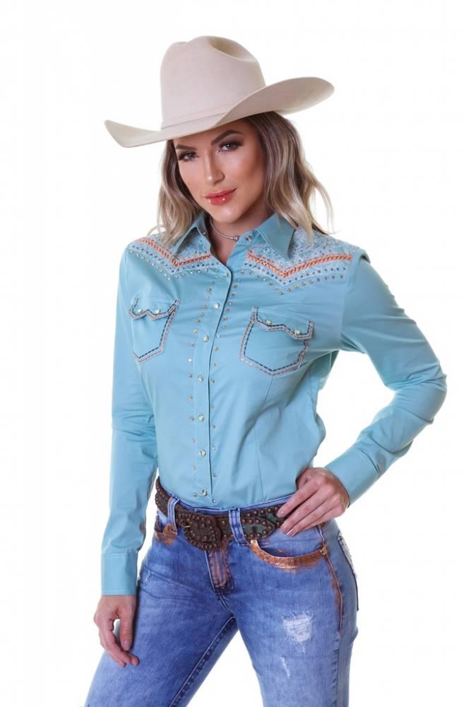 Camisa Feminina Zenz Western Charmayne - Arena Country Echaporã 7f816916f23