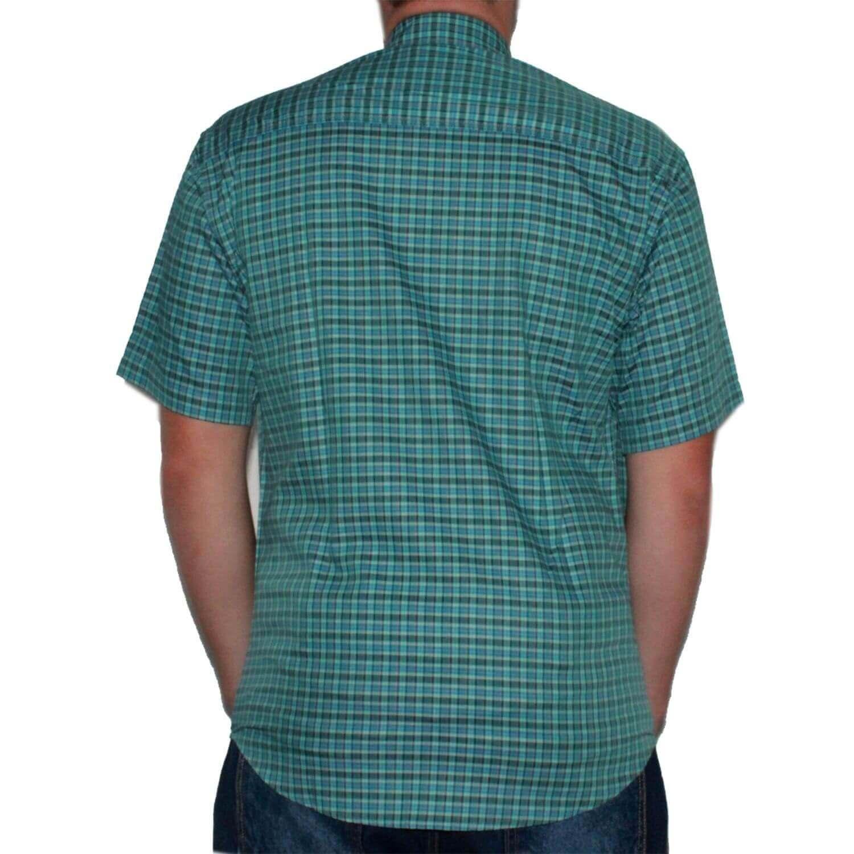 Camisa Classic Masculina Xadrez Turquesa