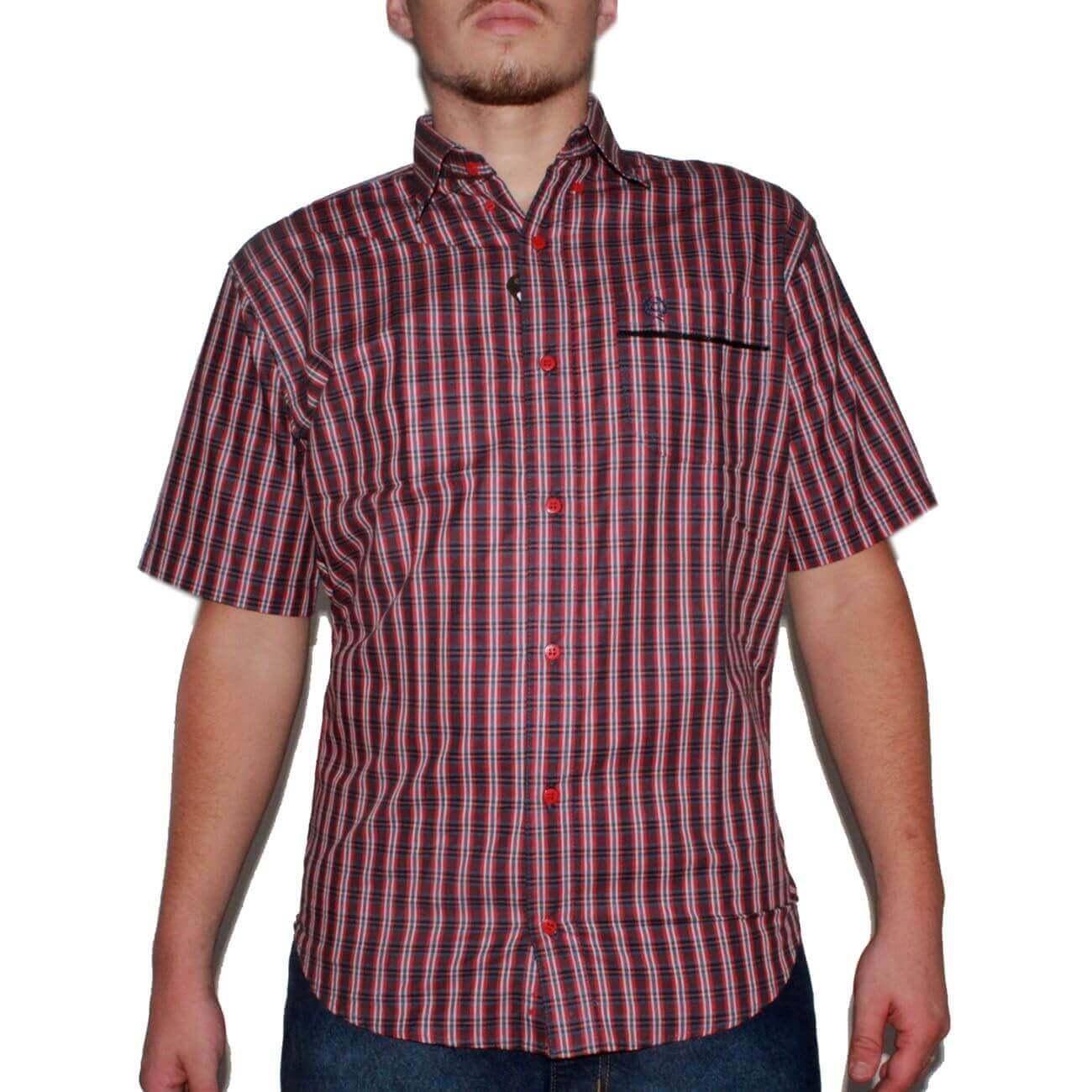 Camisa Classic Masculina Xadrez Vermelho - Arena Country Echaporã e76b218b784a3