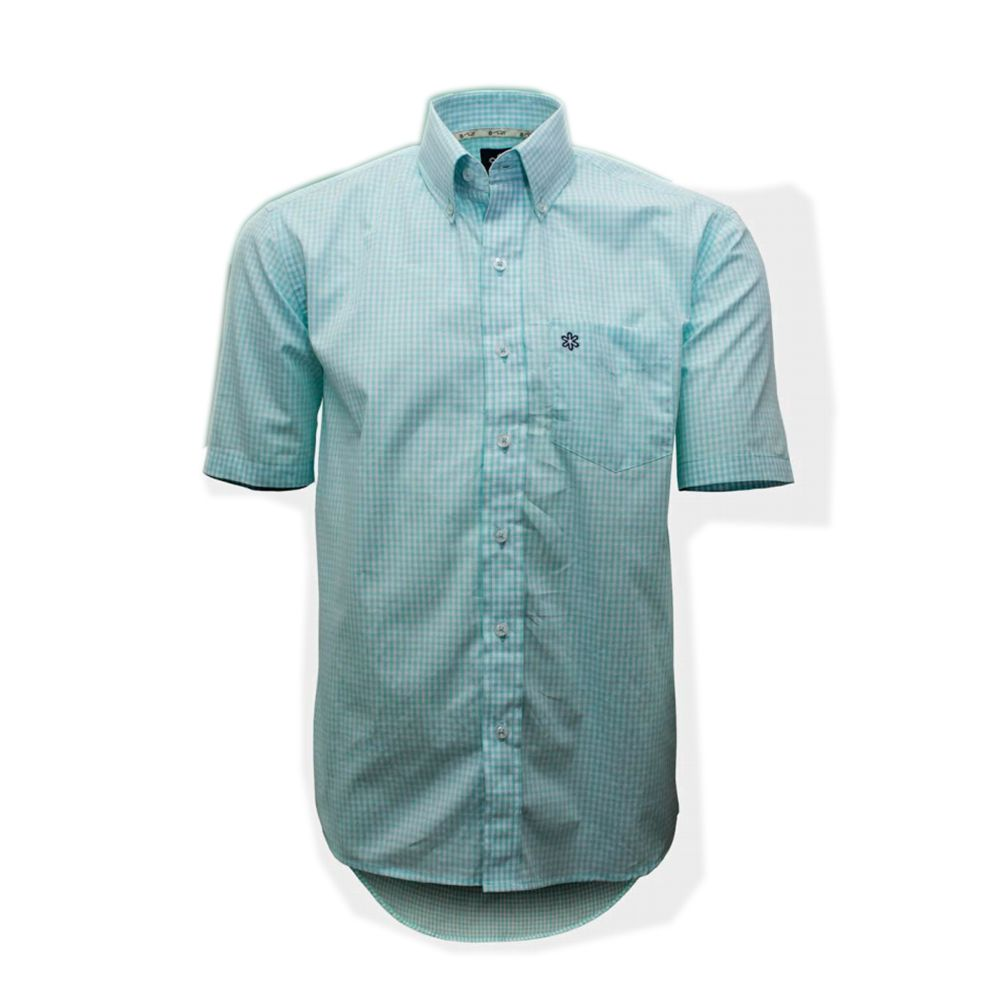 Camisa Tuff Masculina Micro Xadrez Verde Claro - Arena Country Echaporã 55fc2d78e63