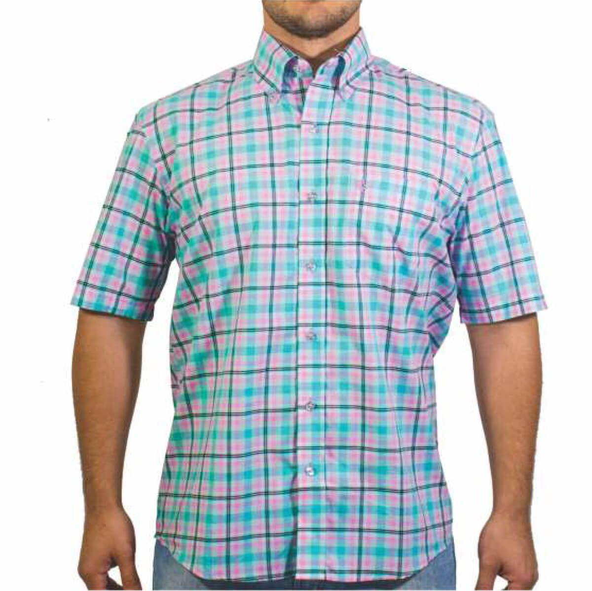 Camisa Tuff Masculina Xadrez Branca Listra Rosas E Verde - Arena Country  Echaporã 7d1acd78233