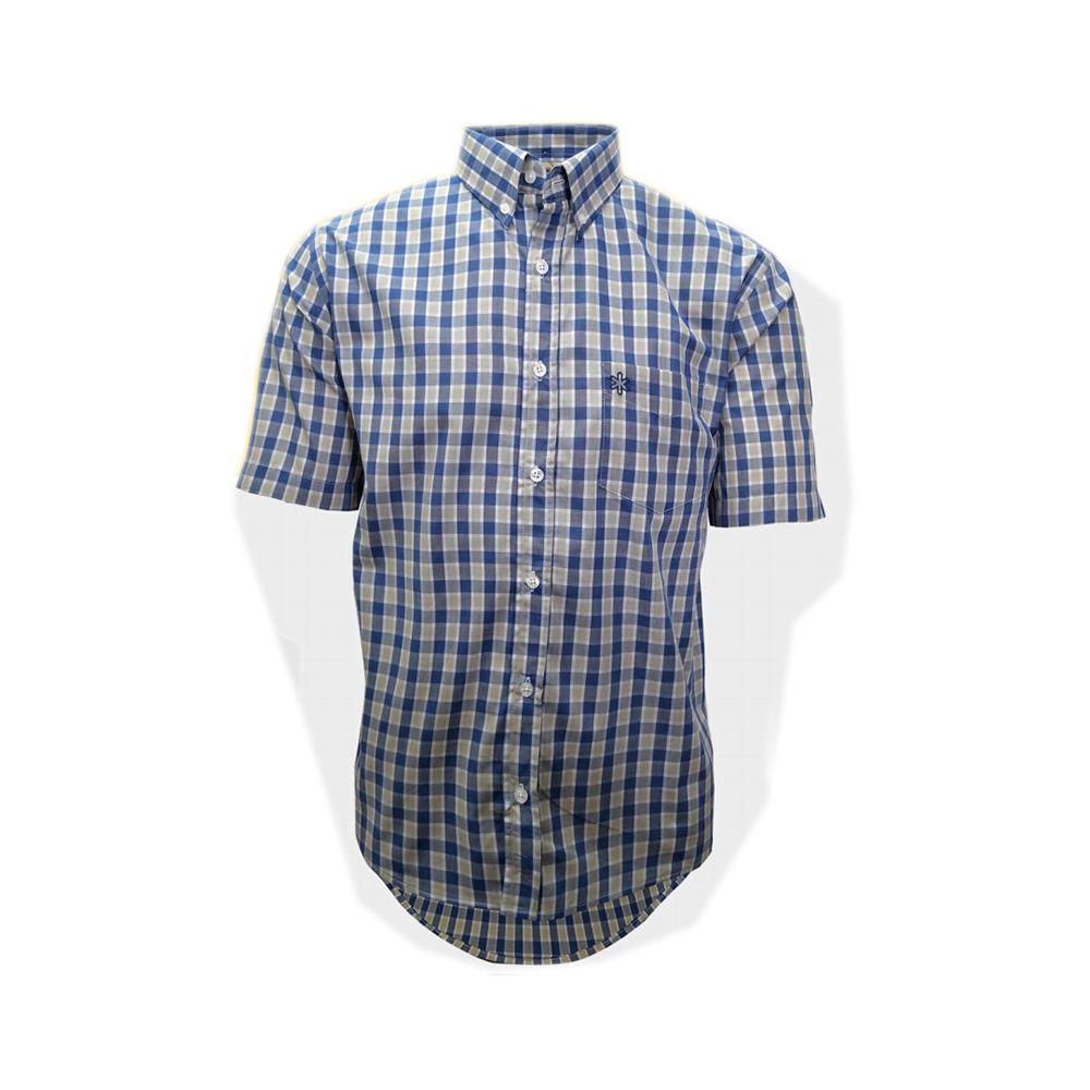 Camisa Tuff Masculina Manga Curta Xadrez Marinho Bege - Arena Country  Echaporã f4f501b6b59