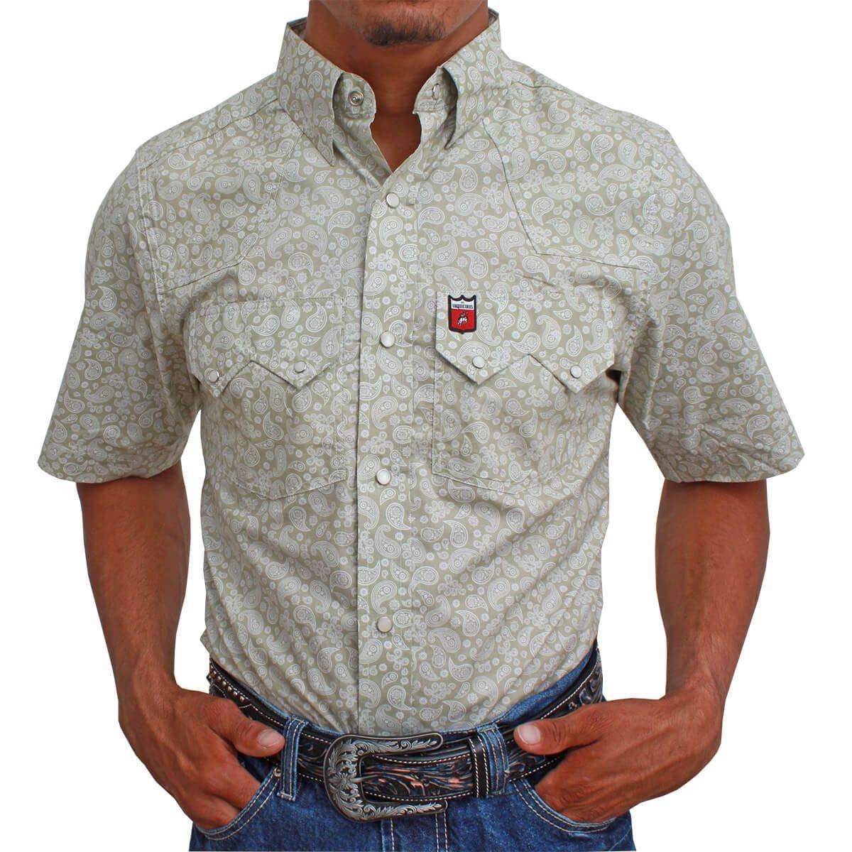 Camisa Os Vaqueiros Manga Curta Floral