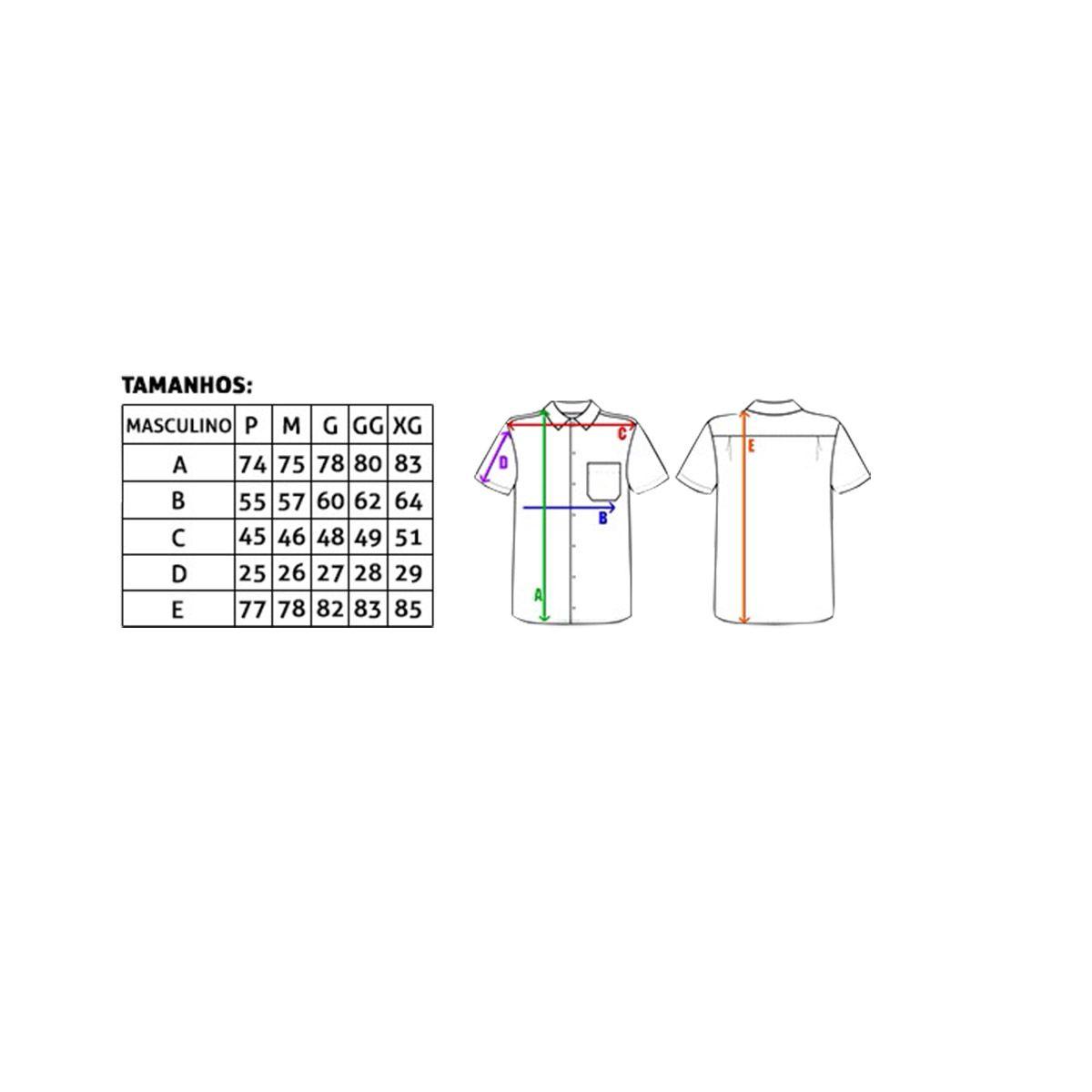 Camisa Tuff Manga Curta Xadrez Azul Marinho E Branco
