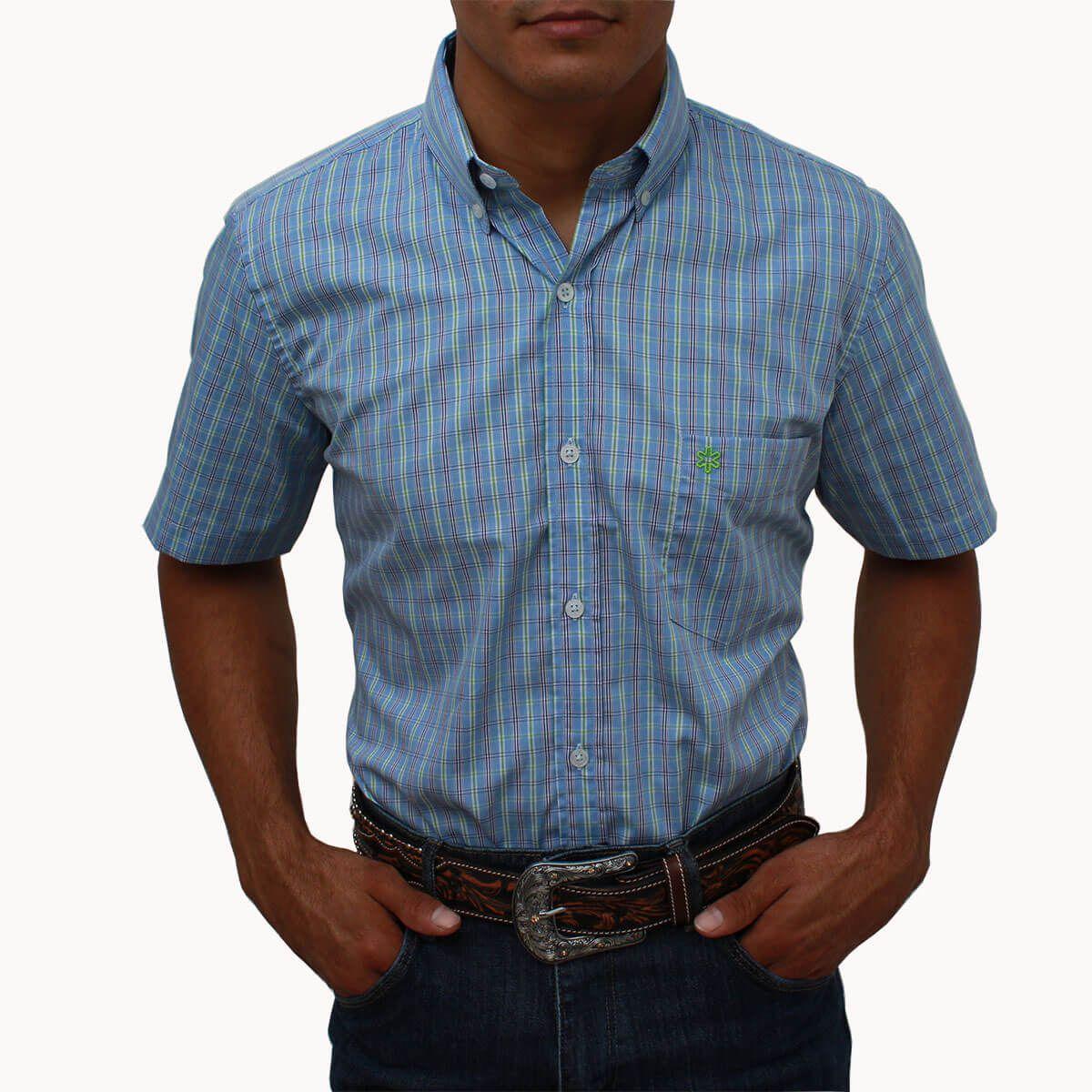 Camisa Tuff Masculina Manga Curta Azul Claro