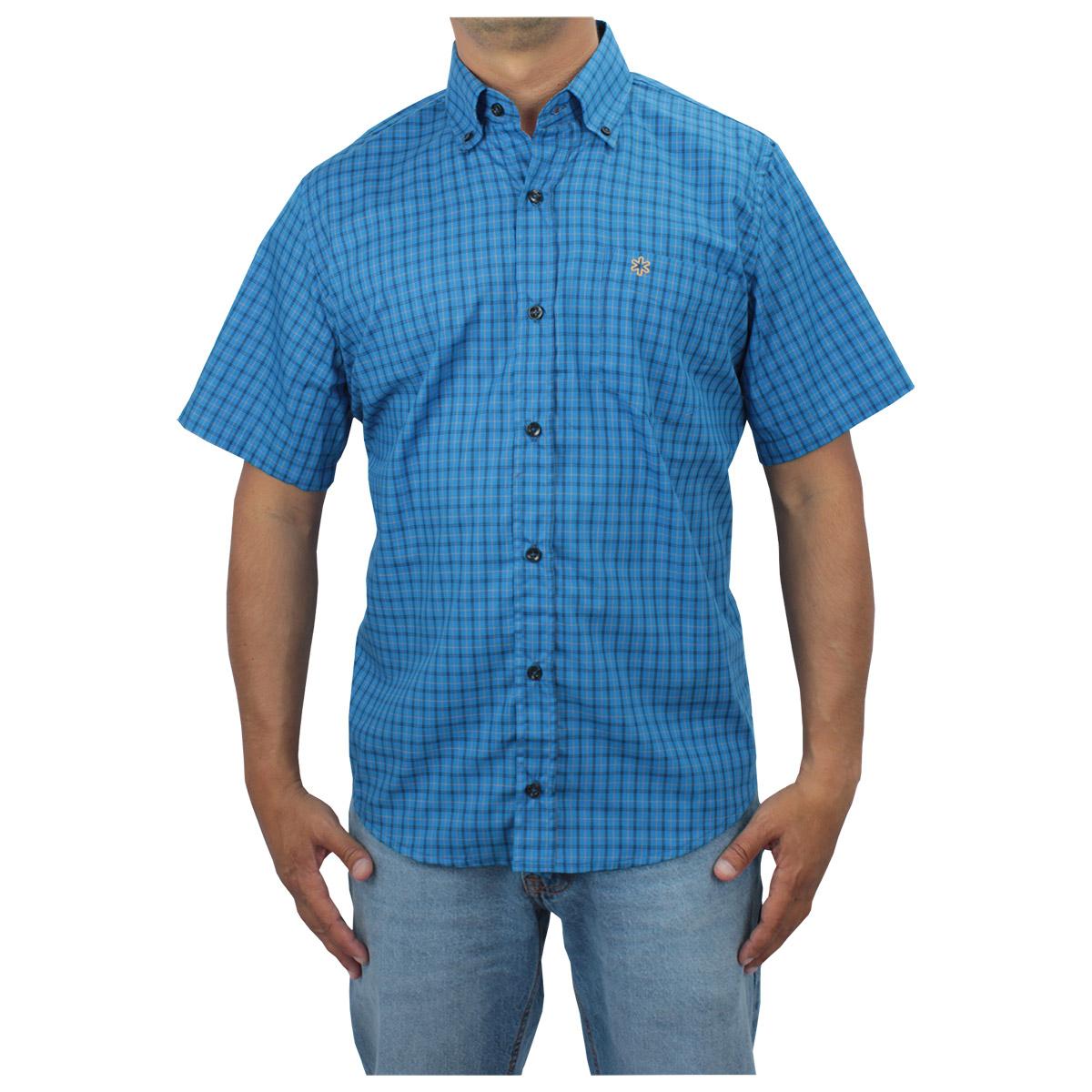 Camisa Tuff Masculina Manga Curta Xadrez Azul