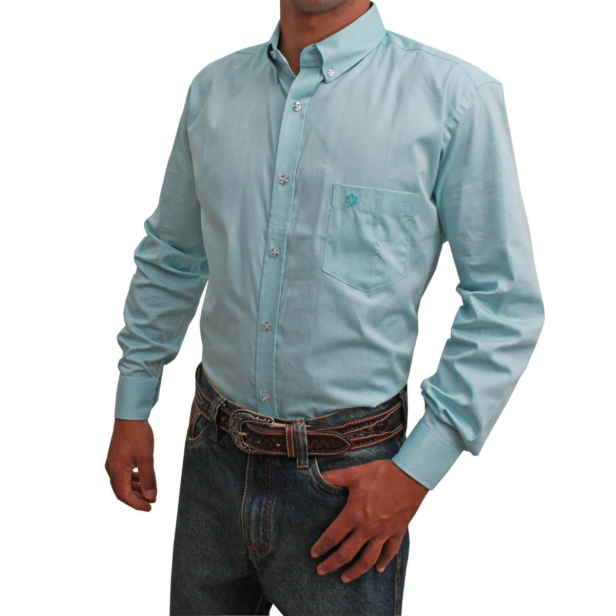 Camisa Tuff Masculina Manga Longa Azul Claro