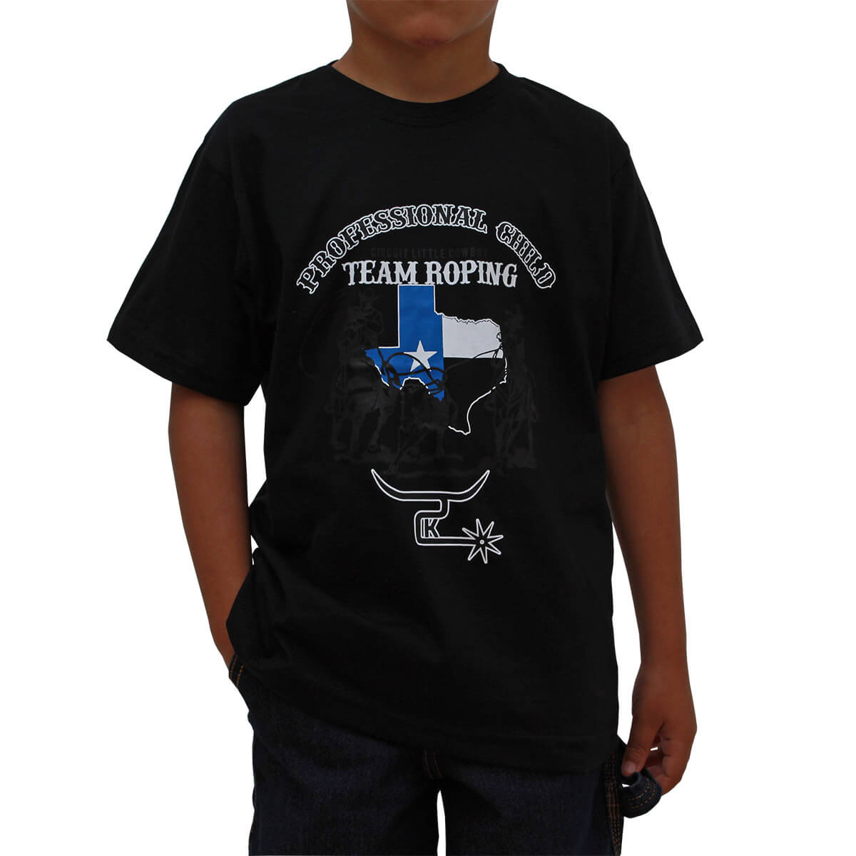 Camiseta 2K Jeans Infantil Preta Team Roping