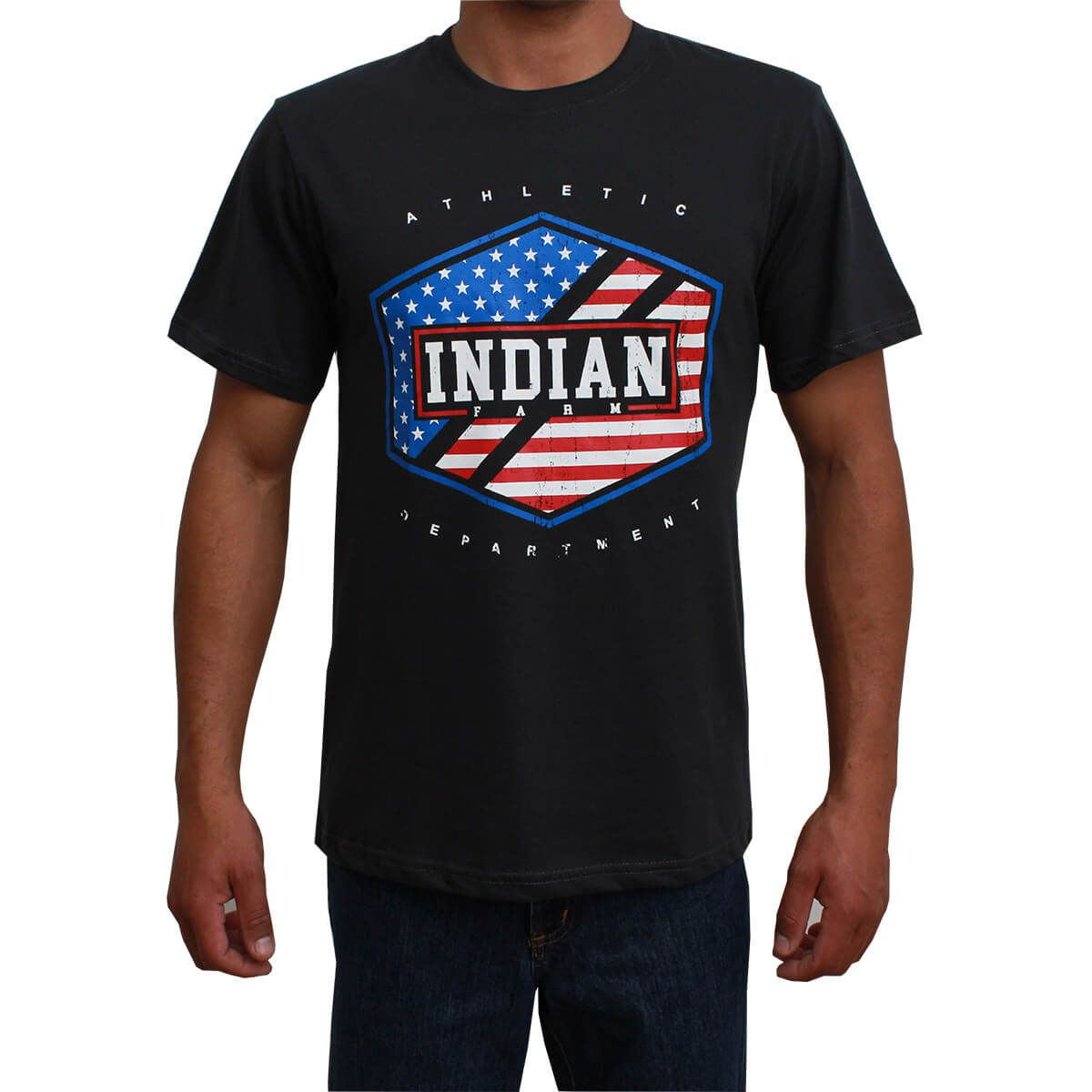 Camiseta Indian Farm Masculina Cinza Chumbo