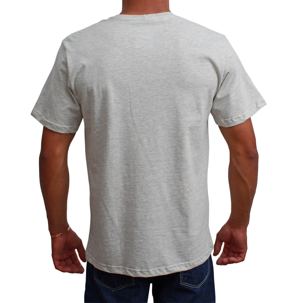 Camiseta Indian Farm Masculina Cinza Mescla The Silver