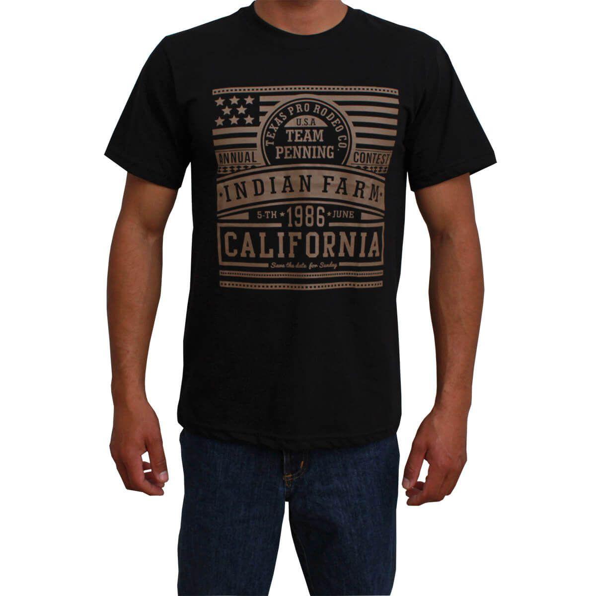 Camiseta Indian Farm Masculina Preta