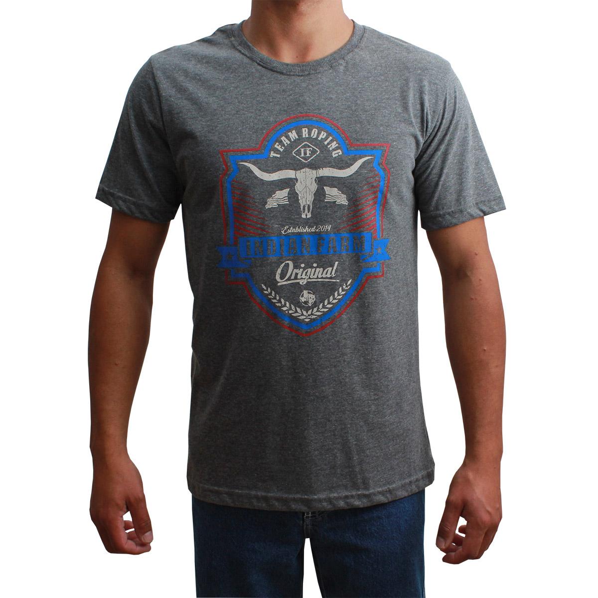 Camiseta Indian Farm Masculina Team Roping Cinza