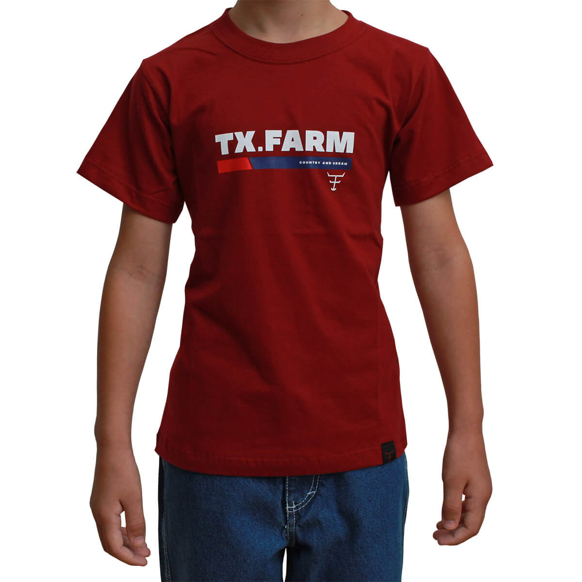 Camiseta Infantil Texas Farm Bordô