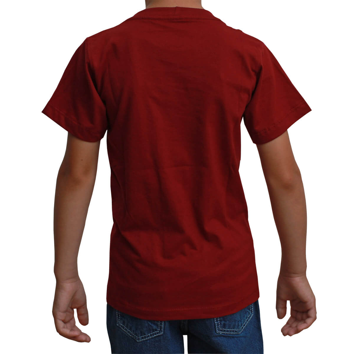 Camiseta Infantil Texas Farm Bordô Original