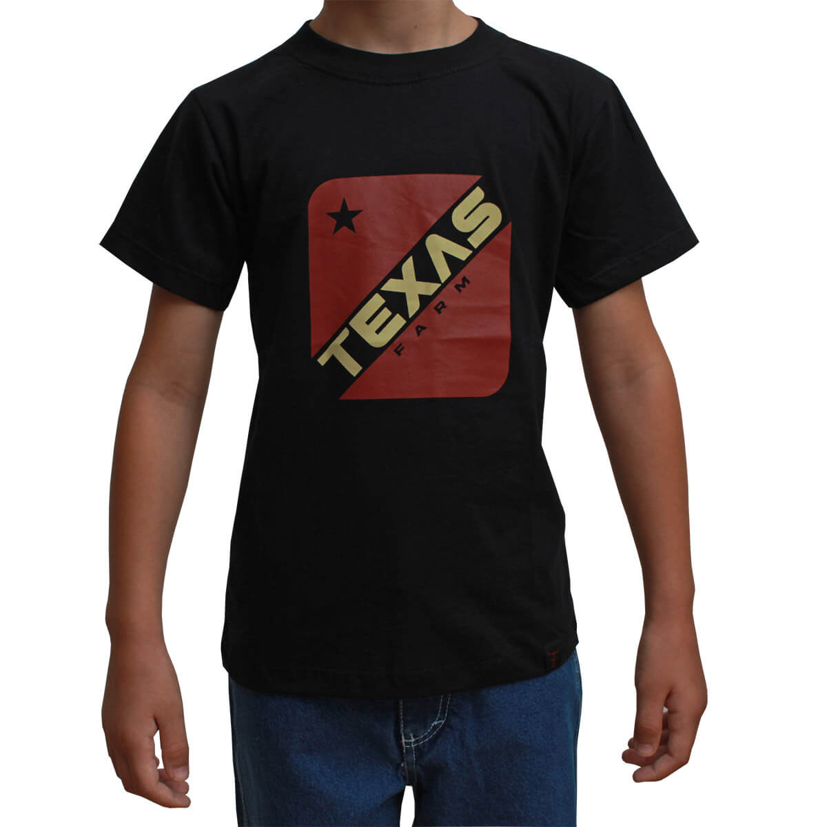 Camiseta Infantil Texas Farm Preta