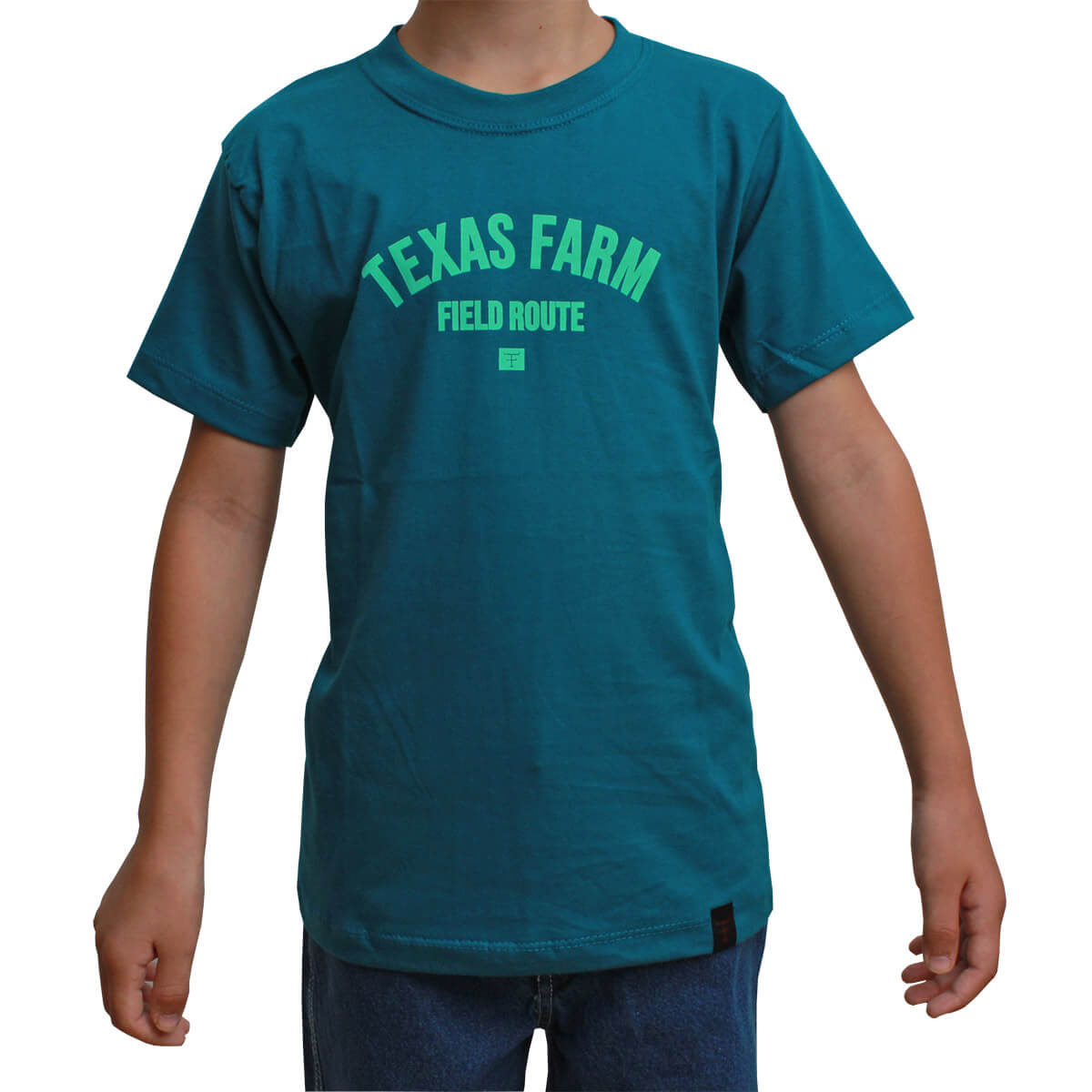 Camiseta Infantil Texas Farm Verde Field Route