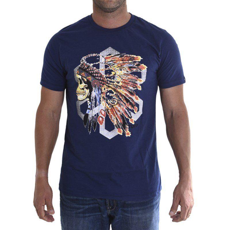 Camiseta Tuff Masculina Índio Blue Native