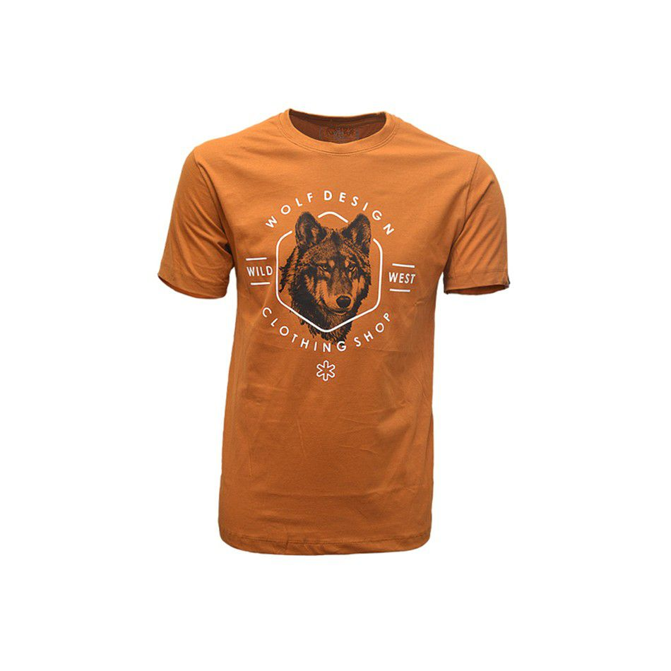 79c77be87e491 Camisa Tuff Masculina Cobre Lobo Wolf Desing Bronze - Arena Country Echaporã