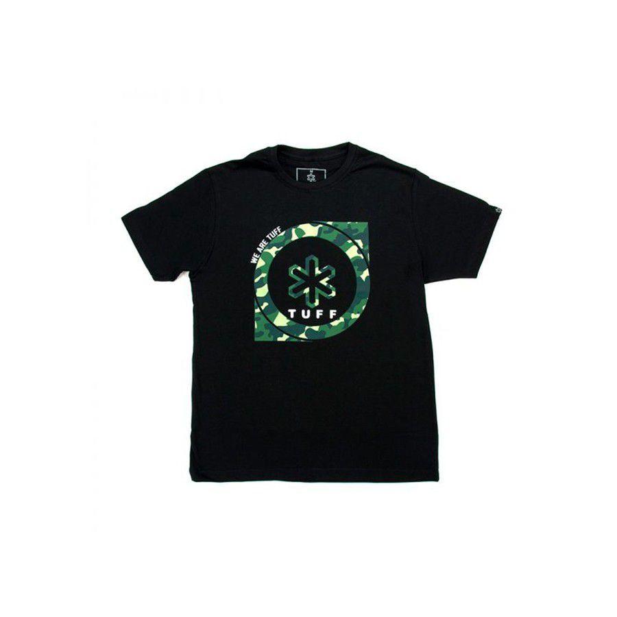 Camiseta Tuff Masculina Preta Black Camo Medal