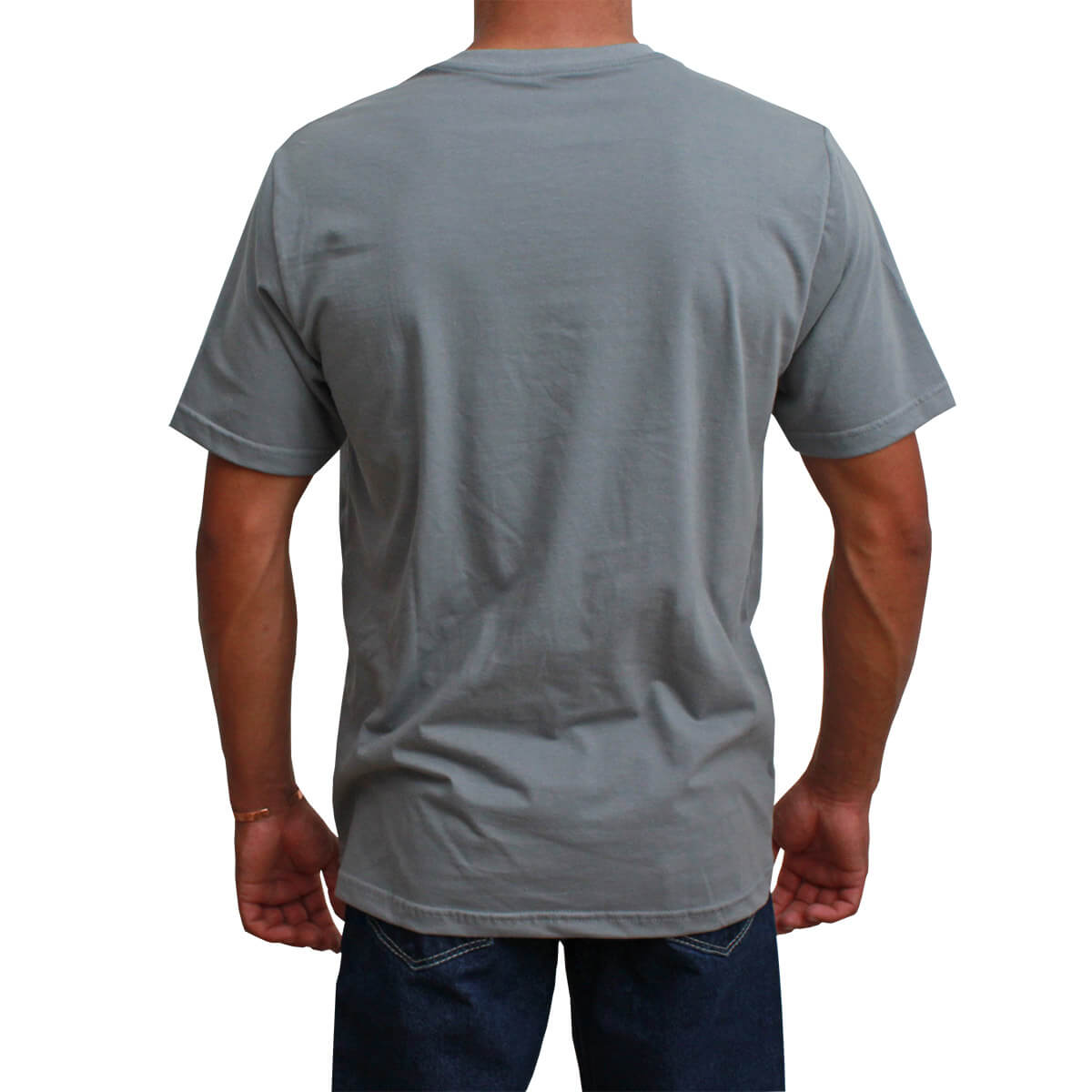 Camiseta Masculina Smith Brothers Cinza Logo Branco