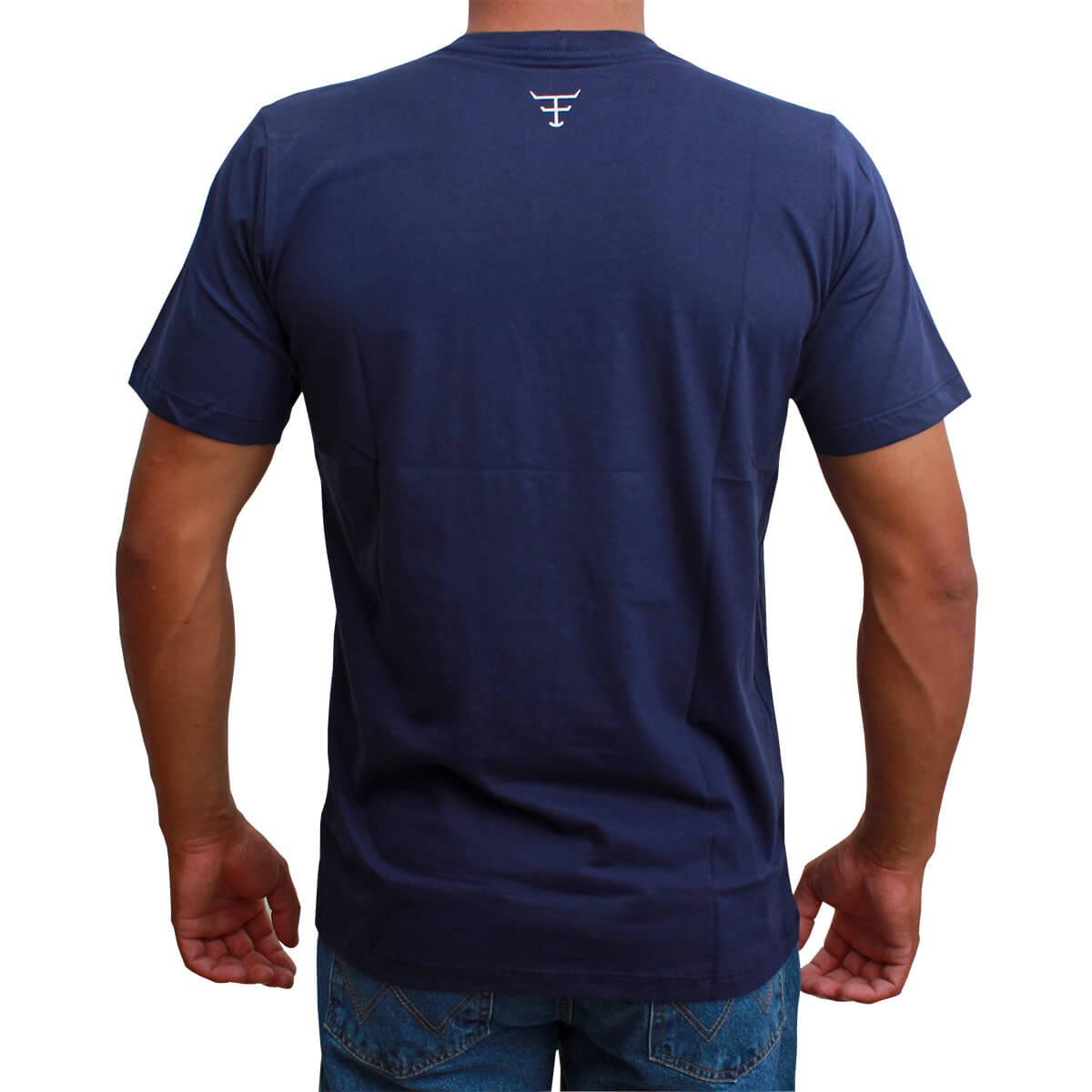 Camiseta Masculina Texas Farm Azul Marinho The Country