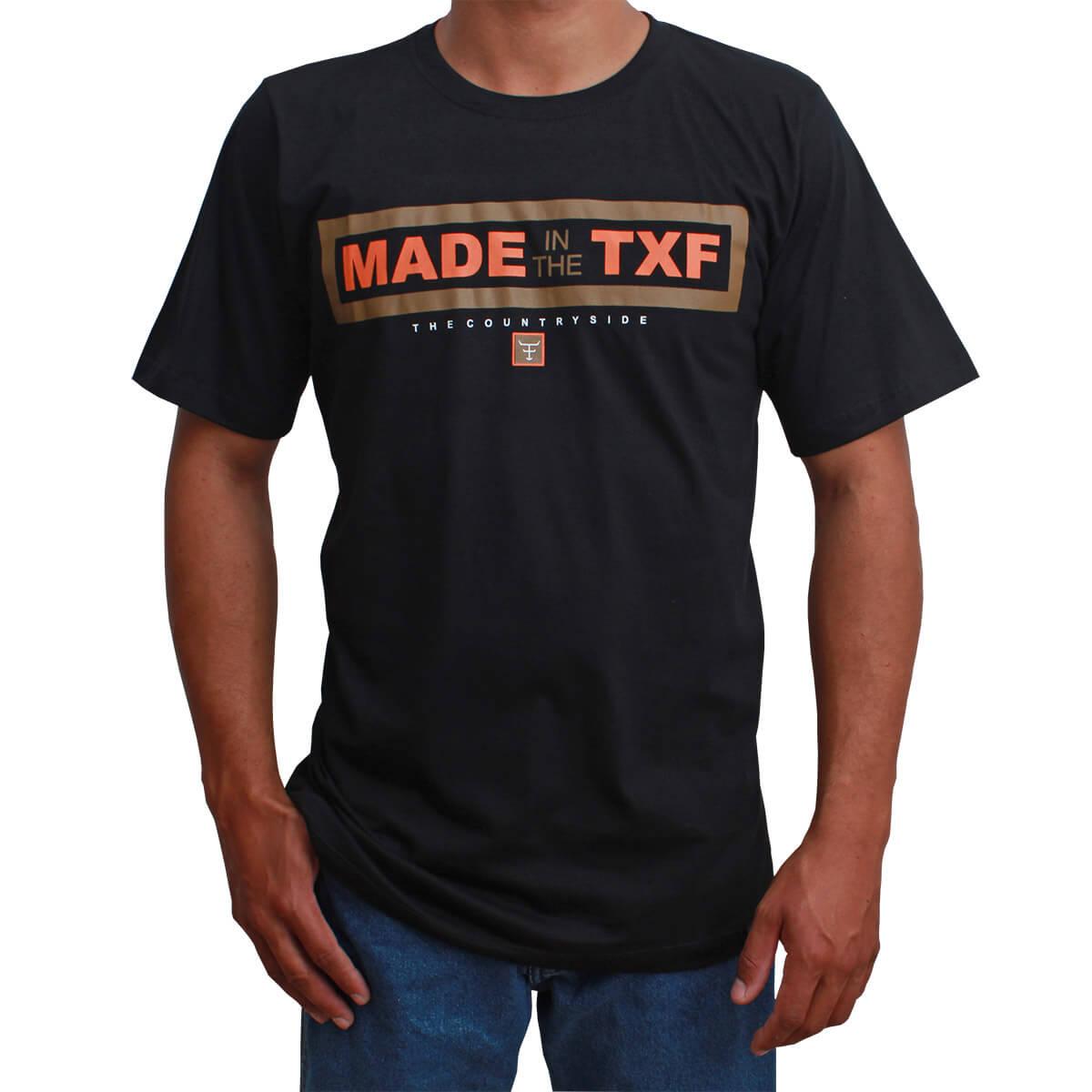 Camiseta Masculina Texas Farm Preta Made In The TXF