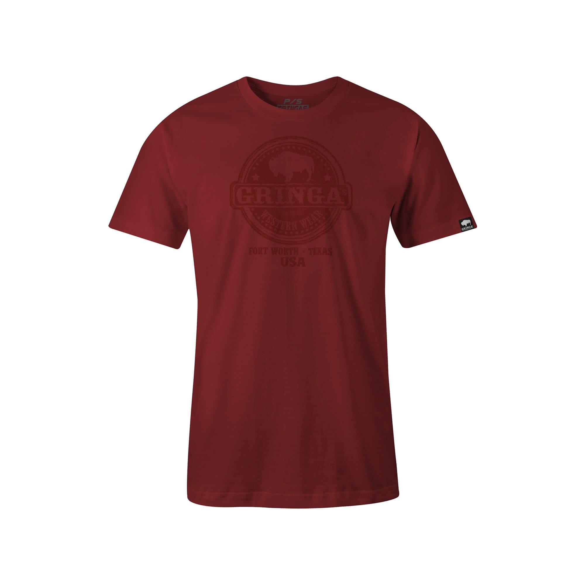 Camiseta Gringas´s Western Masculina Tubular Red Blood