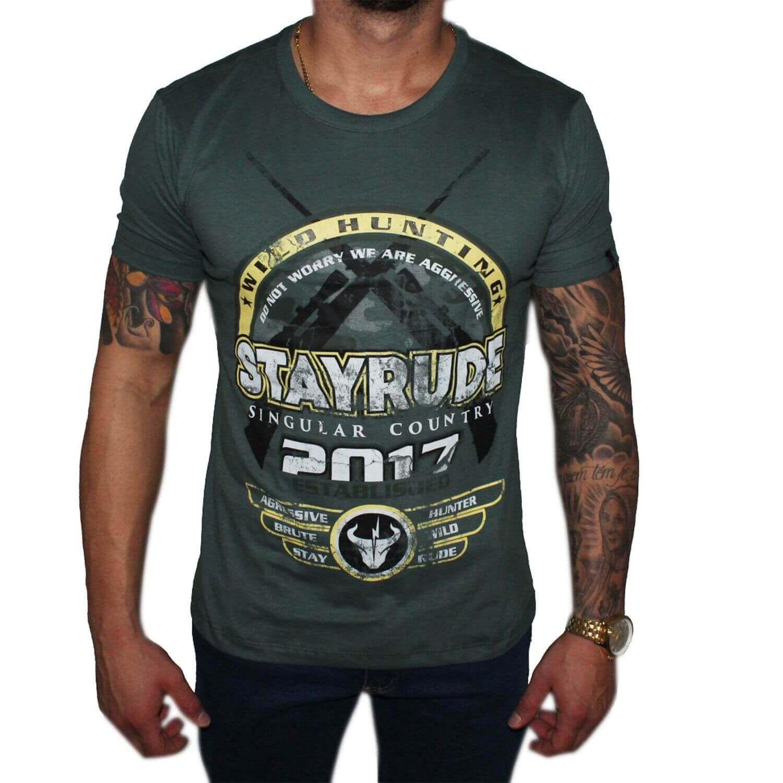 Camiseta Stayrude Masculina Verde Wild