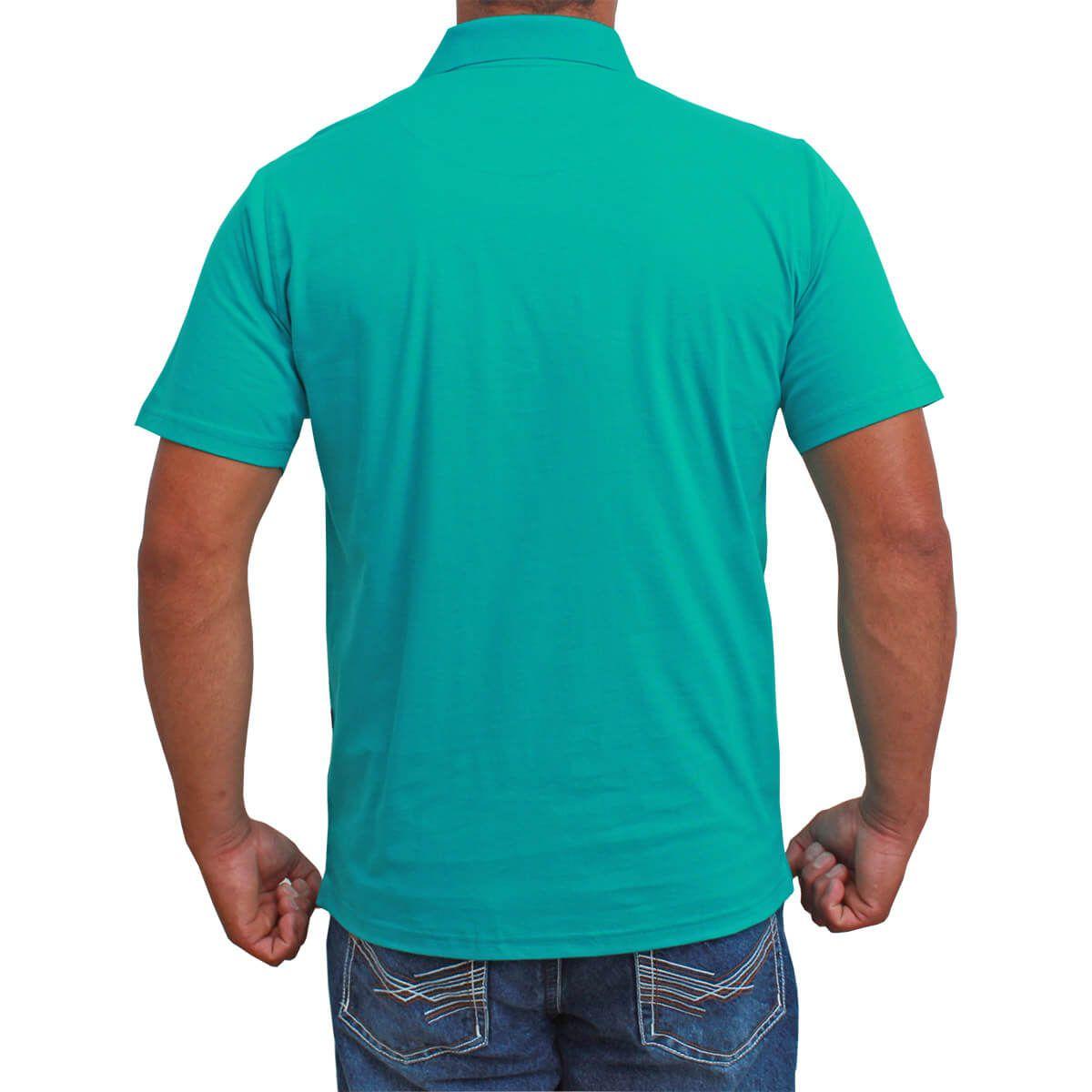 Camiseta Polo Classic Básica Turquesa