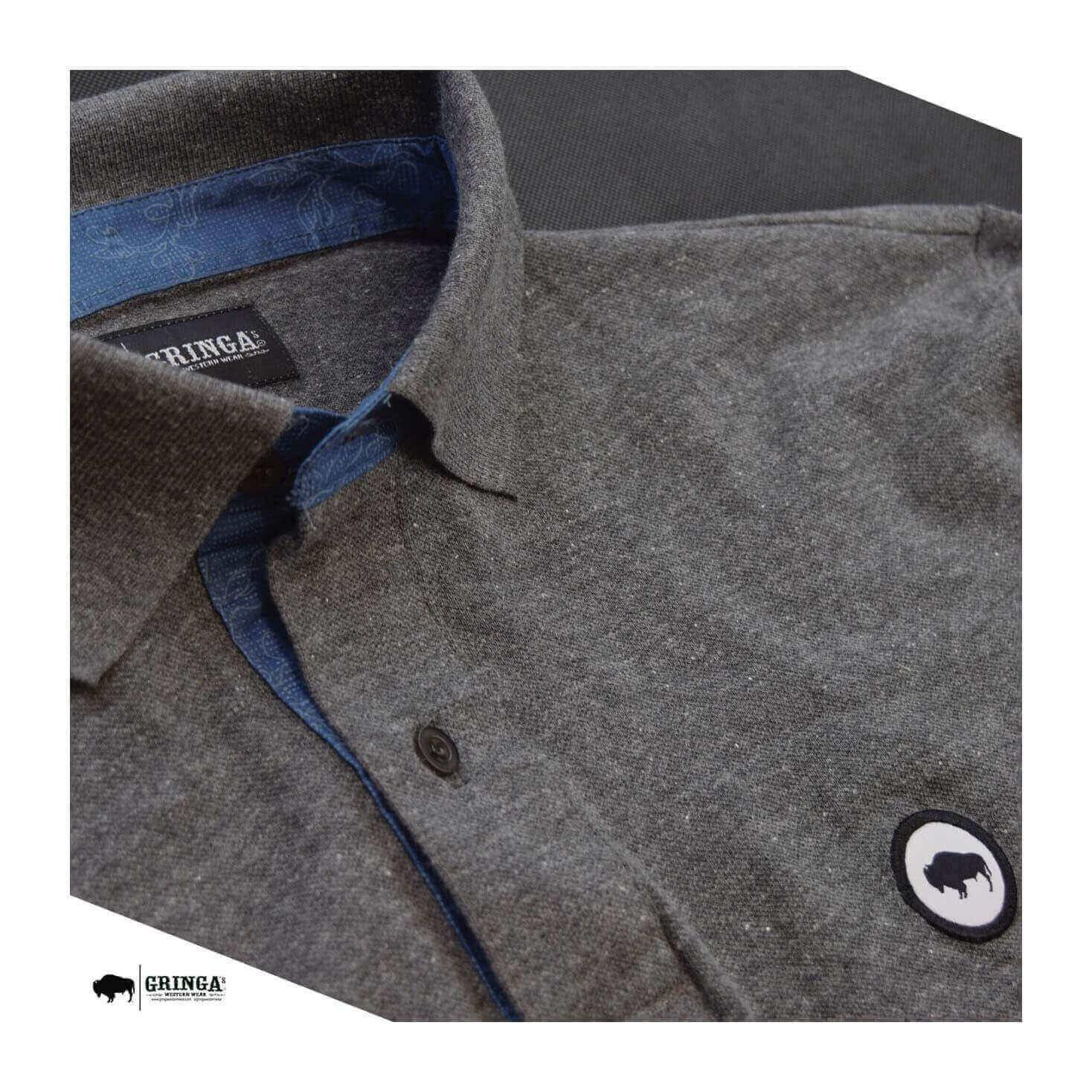 Polo Gringa´s Western Masculina Plc Gunmetal