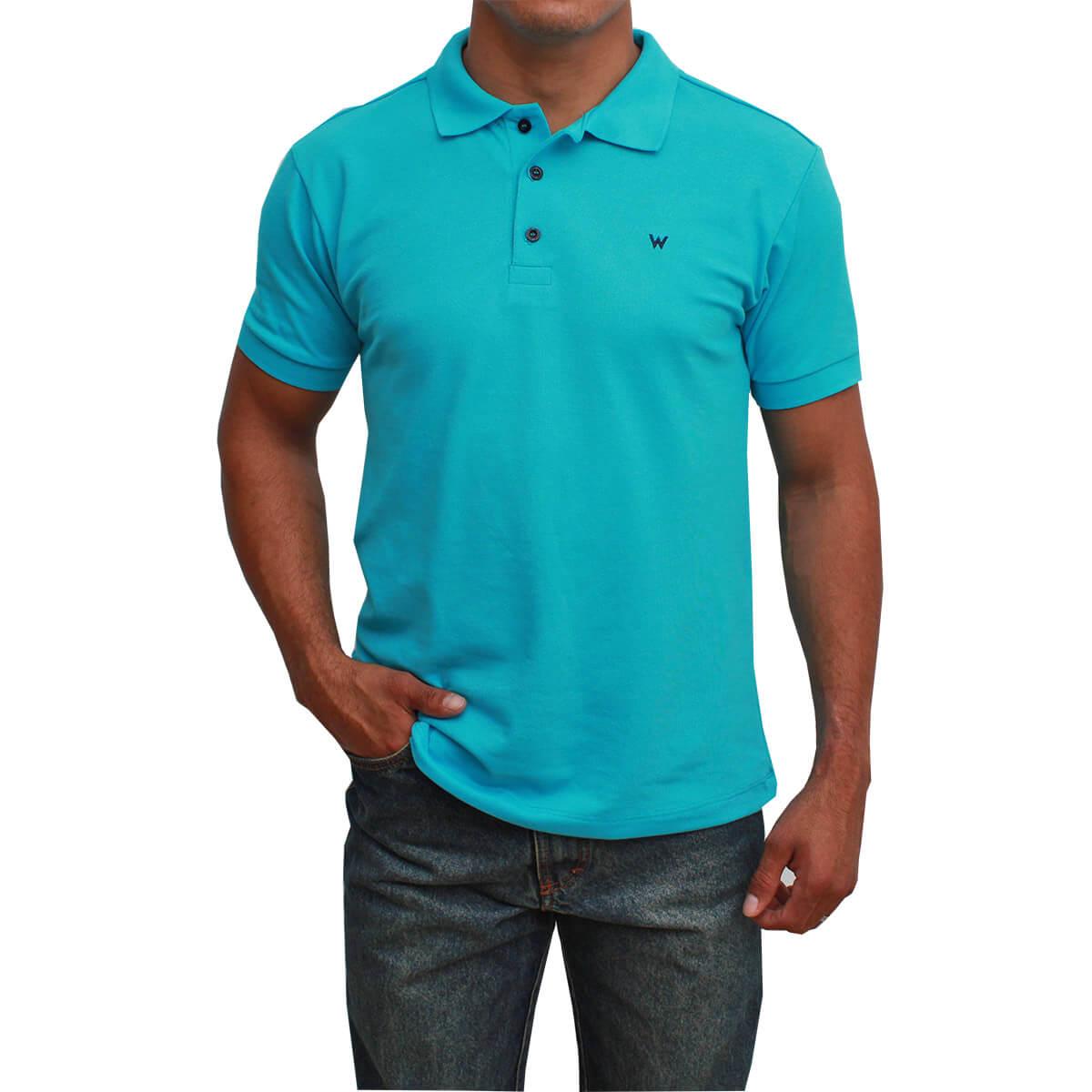 Camiseta Polo Masculina Wrangler Azul