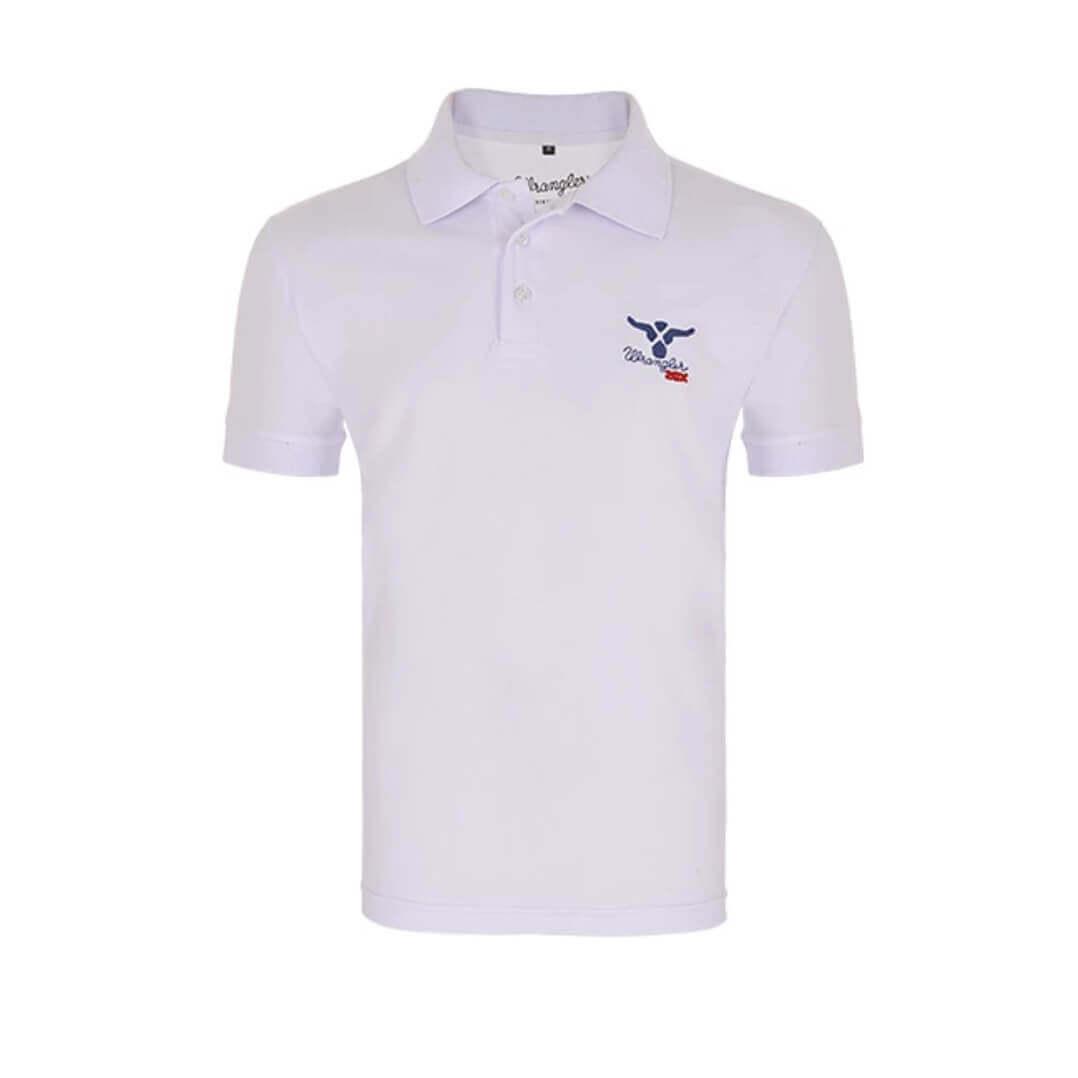 4483042d0d Camiseta Polo Masculina Wrangler Branca - Arena Country Echaporã
