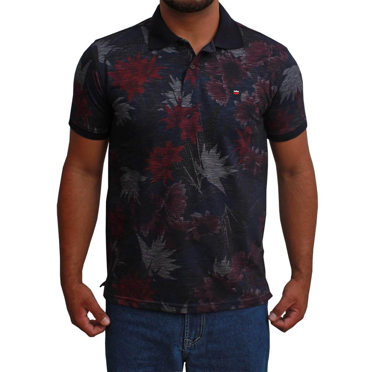 Camiseta Polo Os Vaqueiros Masculina Floral