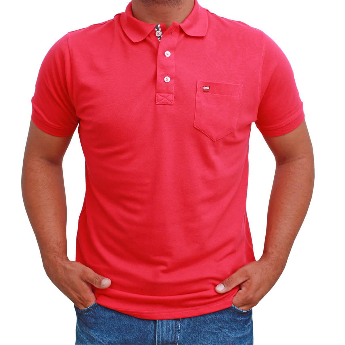 Camiseta Polo Os Vaqueiros Pink