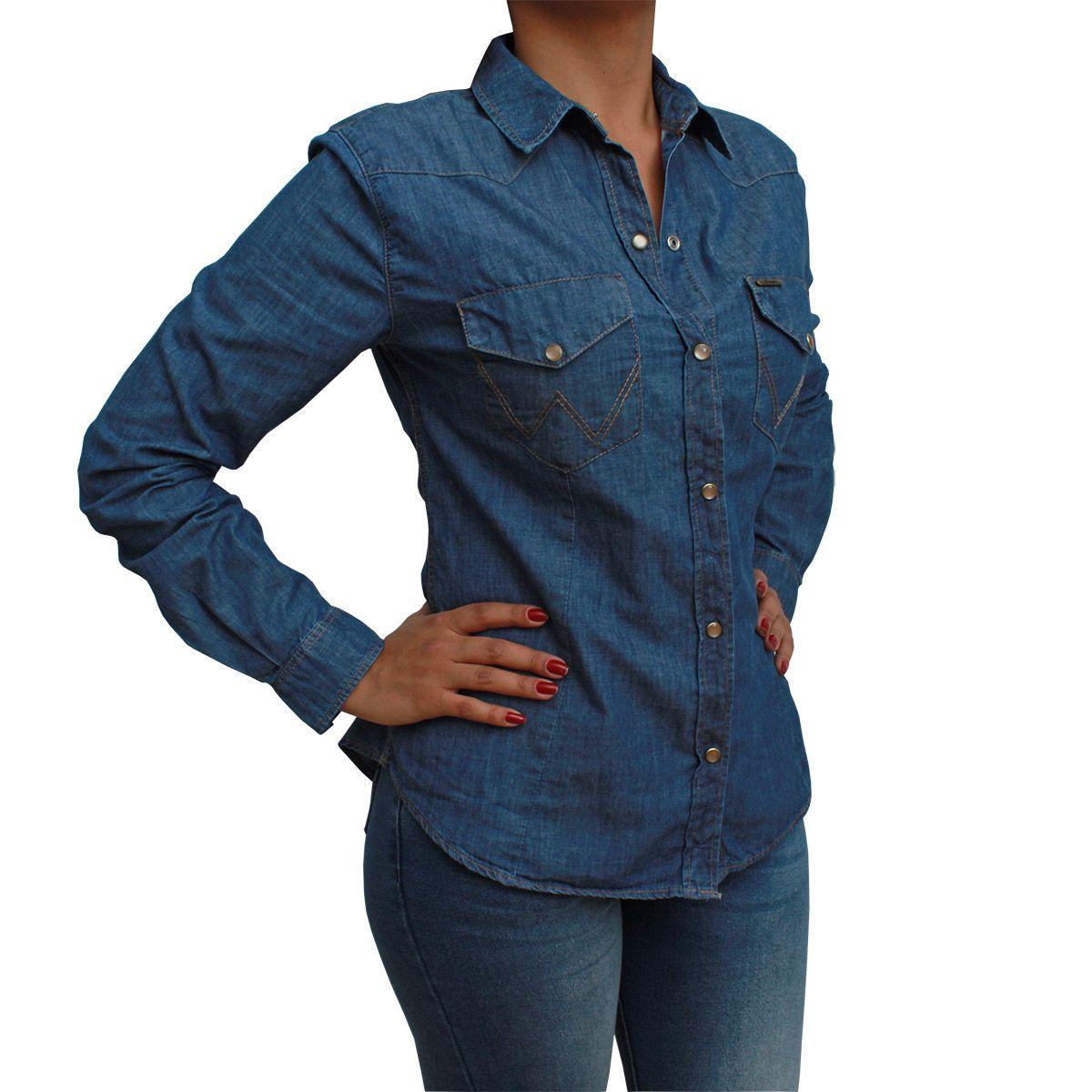 Camisete Wrangler Feminina Jeans Stone