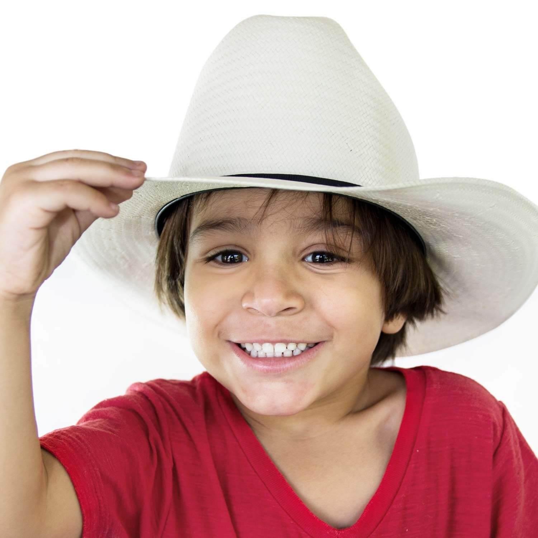 Chapéu Infantil Arizona 2X Palha Natural Pralana