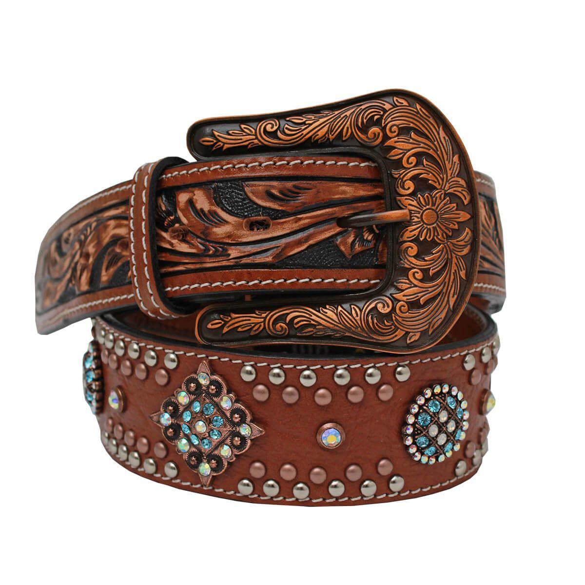 Cinto Arizona Belts Com Pedra Azul e Furta Cor